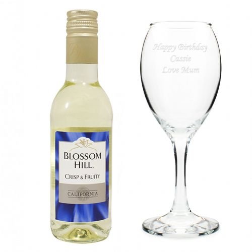 White Wine & Wine Glass Set